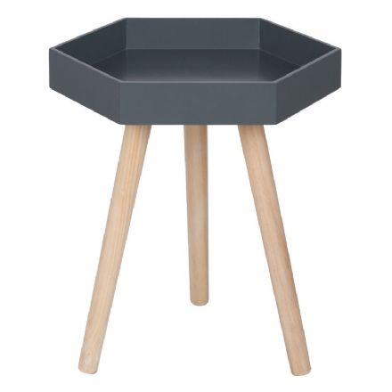 Dark Grey Painted Side  Table